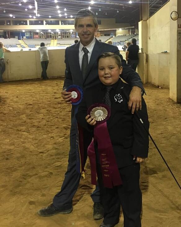 Arabian trainer Ted Carson with Chandler East Coast Championship Show, Champion and Top Five handlers