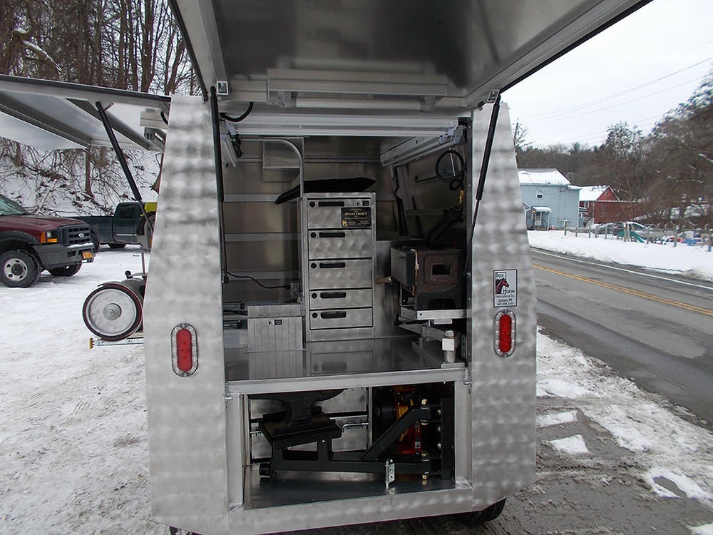 Custom Farrier Trailer by Bay Horse Innovations of New York