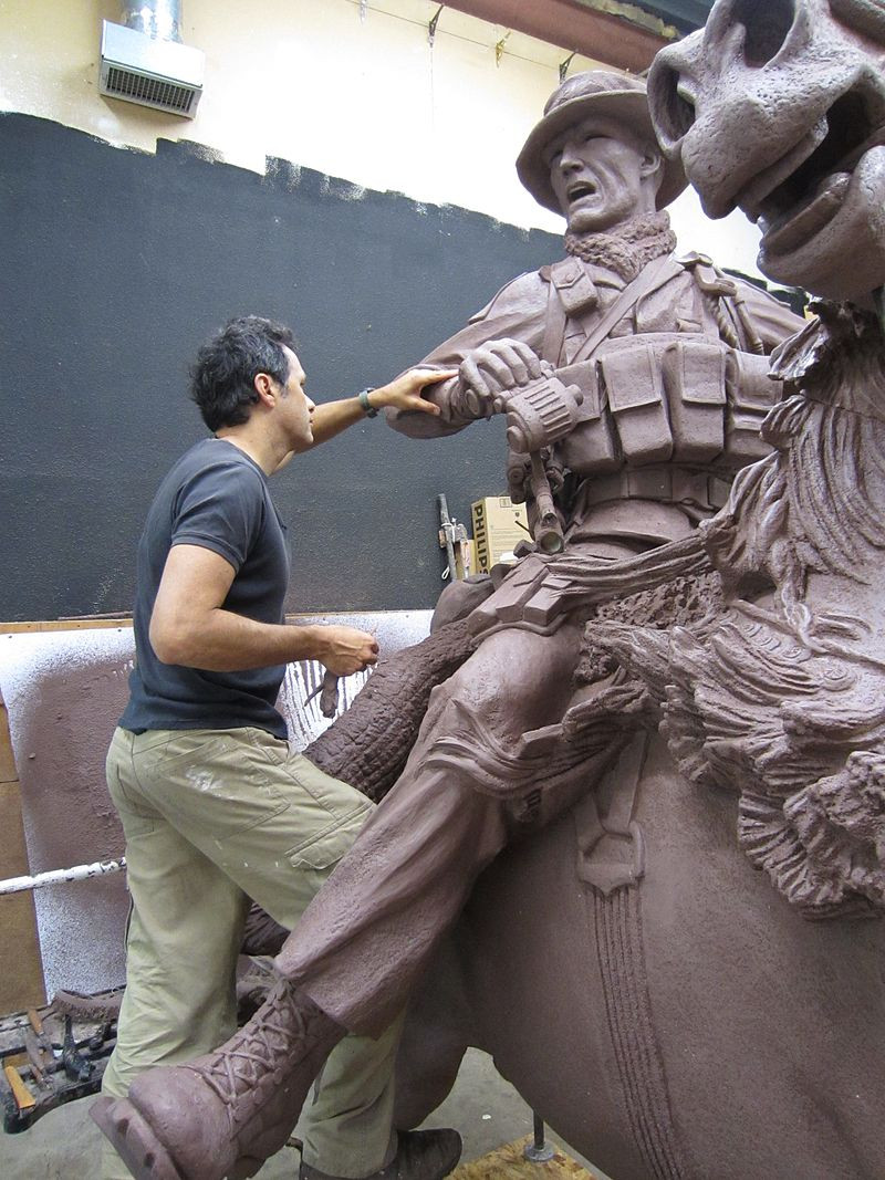 Douwe Blumberg at work on America's Response Monument