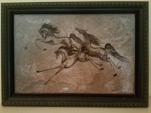 Running Horse Tile by Trisha Scheele