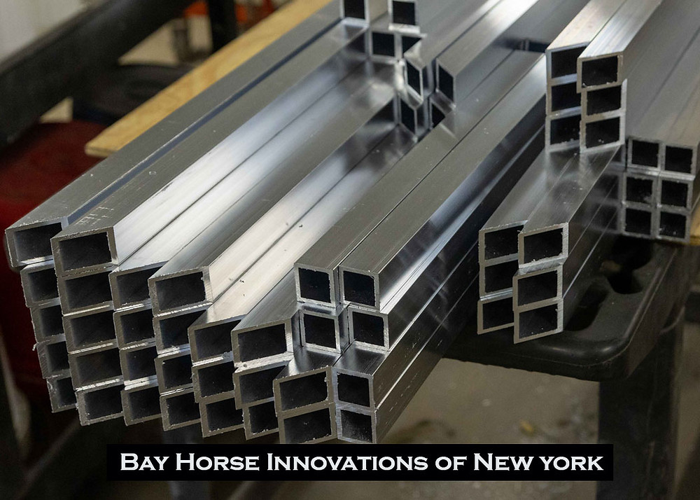 Square tubing for future custom vet and farrier rigs at Bay Horse Innovations New York