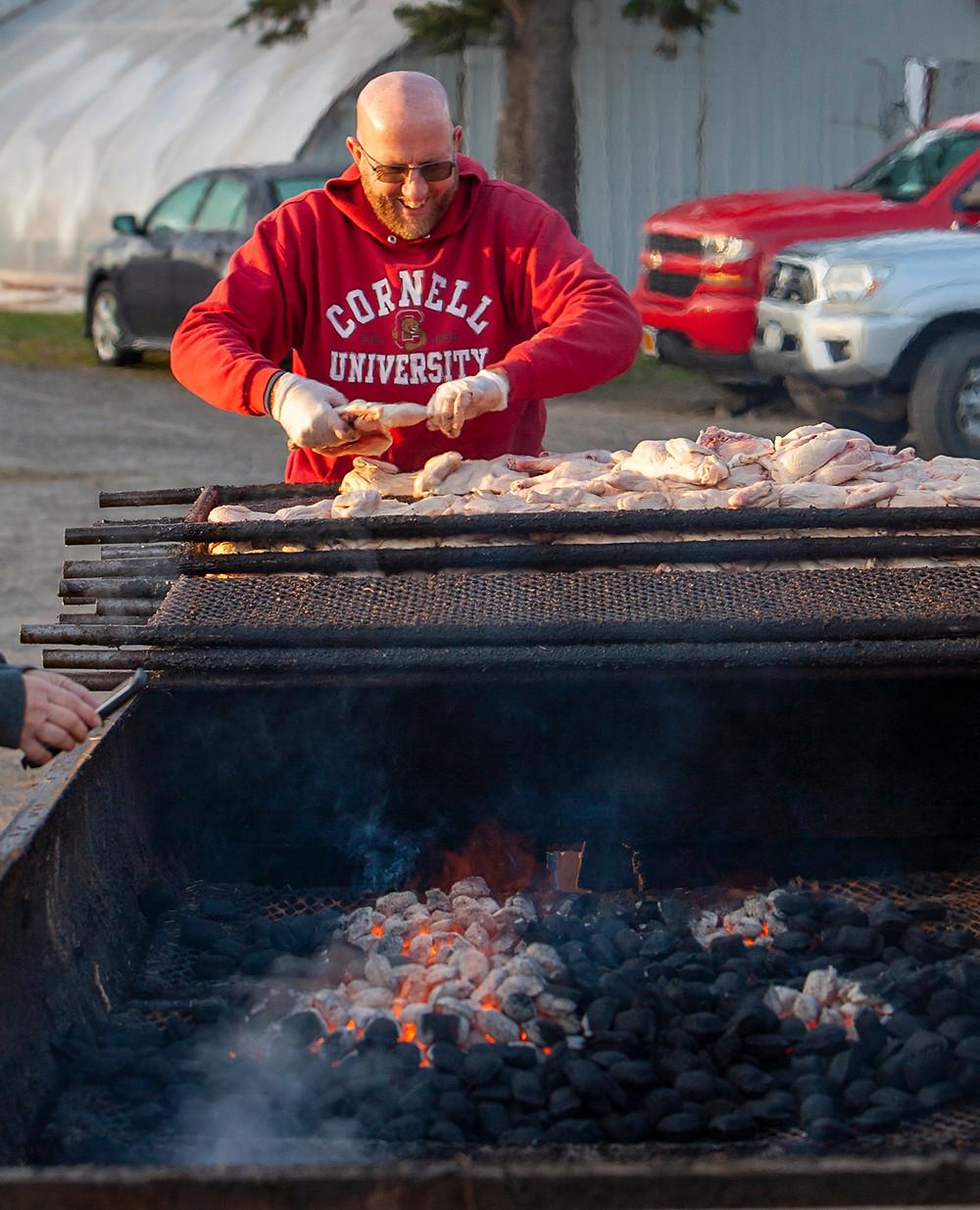 Chicken BBQ at Dedricks Farm Market Dryden New York