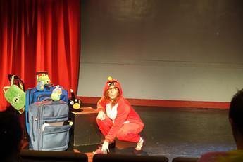 D.Aber's Baggage at the Door, Red Bird.JPG