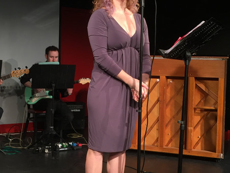 Dana joining Household Words concert,  by Martha Miller with Alexander Rovang