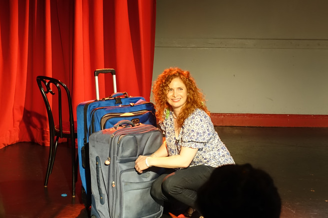 D.Aber's Baggage at the Door, top of show