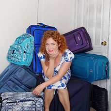 Dana Aber Baggage and the Door cheeky sq