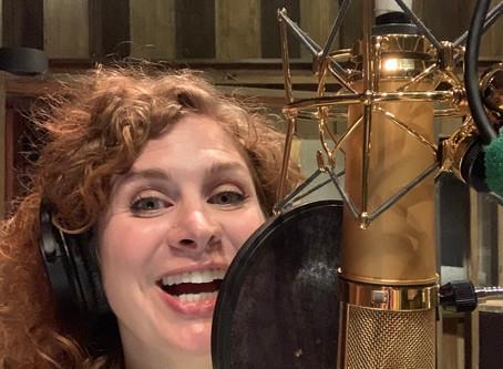 Dana in the Bordello recording studio