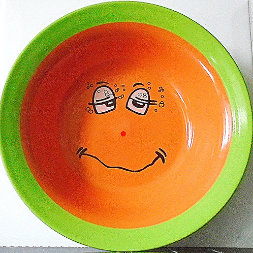 Trade Winds Funny Faces Bowl Dish Green / Orange