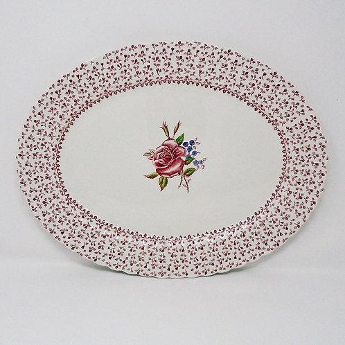 Johnson Brothers Rose Garland Large Oval Platter