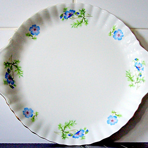 Richmond Blue Poppy Cake Plate