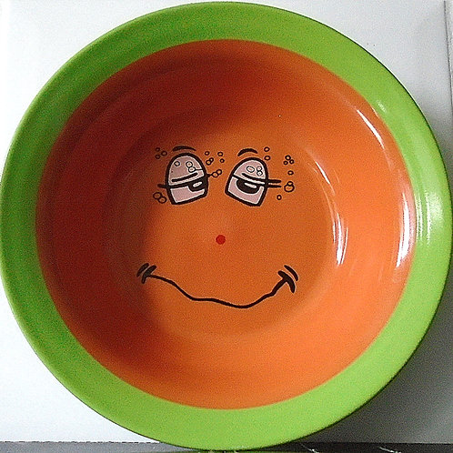 Trade Winds Funny Faces Bowl Dish Yellow / Blue