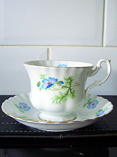 Richmond Blue Poppy Cup & Saucer