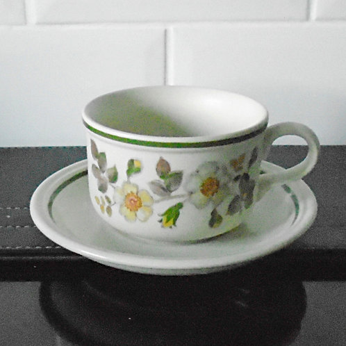 Marks & Spencer M & S Autumn Leaves Wide Brimmed Cup and Saucer