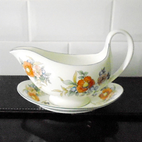 Wedgwood Gravy Boat & Stand
