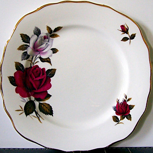 Colclough Red Roses Tea Plate