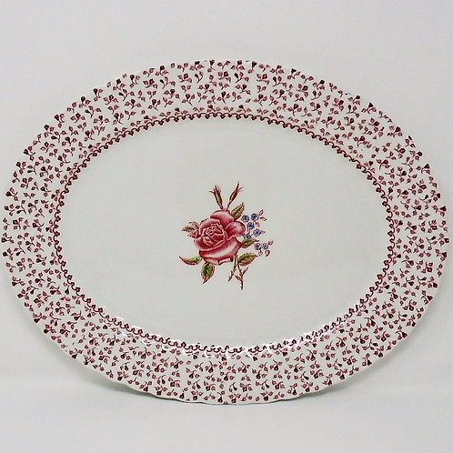 Johnson Brothers Rose Garland Small Oval Platter