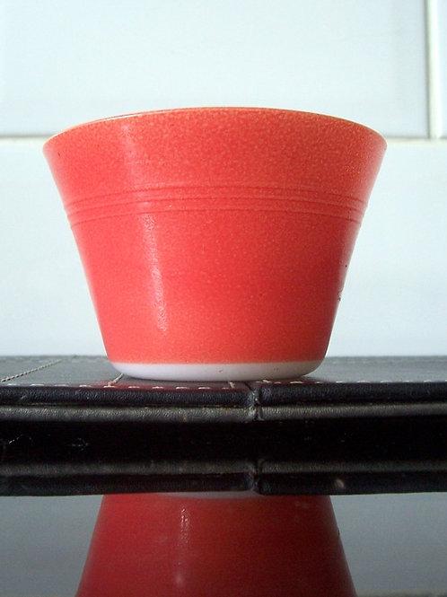 Vintage JAJ Pyrex Ramekin Custard Cup Red Coral