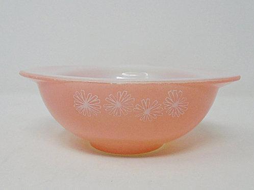 JAJ Pyrex Gaiety Pink Snowflake Sauce Pourer Gravy Boat