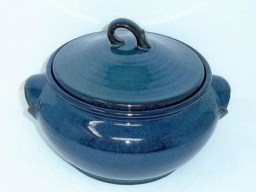 Hornsea Pottery Brecon Blue Lidded Casserole Dish