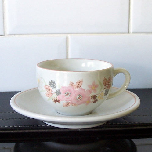 Boots Hedge Rose Cup & Saucer