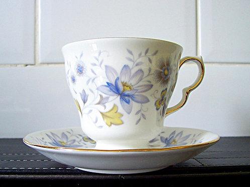Colclough Rhapsody in Blue Cup & Saucer