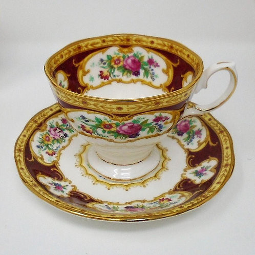 Royal Albert Lady Hamilton Coffee Cup and Saucer / Demi Tasse
