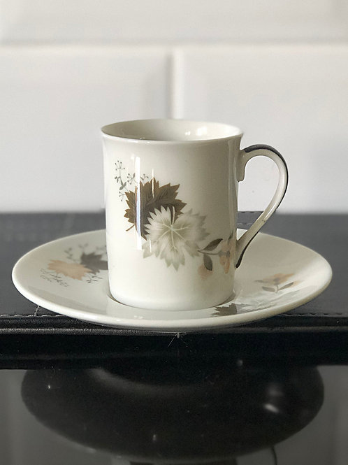 Royal Doulton Westwood Coffee Demi Tasse Cup and Saucer