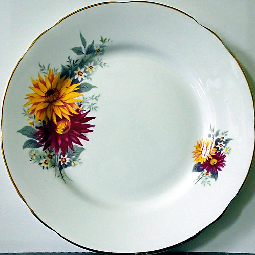 Royal Stafford Dahlia Red and Yellow Tea Side Plate