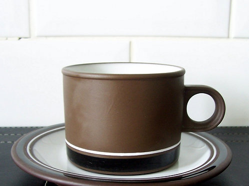 Hornsea Pottery Contrast Cup & Saucer