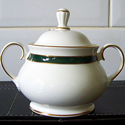 Royal Grafton Warwick Green Lidded Sugar Bowl