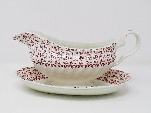 Johnson Brothers Rose Garland Gravy Boat & Stand