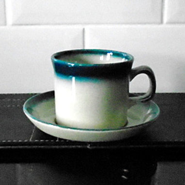 Wedgwood Blue Pacific Cup and Saucer