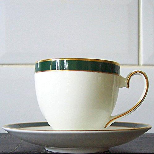 Royal Grafton Warwick Green Cup & Saucer