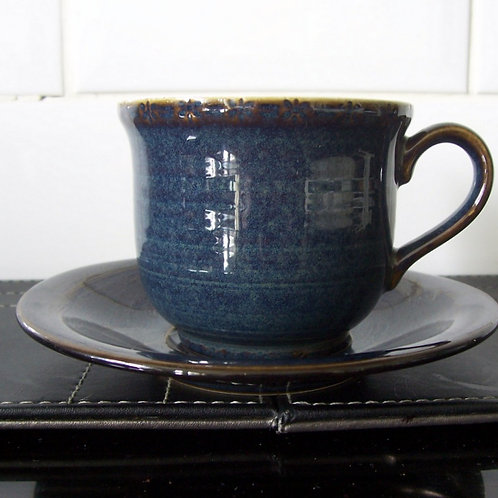 Hornsea Pottery Bhs Brecon Blue Cup & Saucer