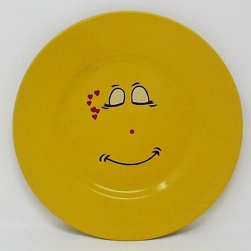 Trade Winds Funny Faces Yellow Salad Dessert Plate
