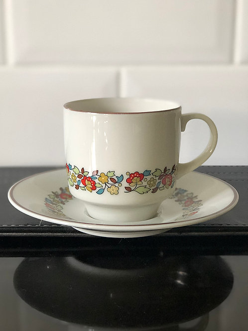 Royal Doulton Holiday Cup and Saucer