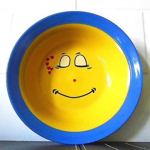 Trade Winds Funny Faces Bowl Dish Blue / Yellow