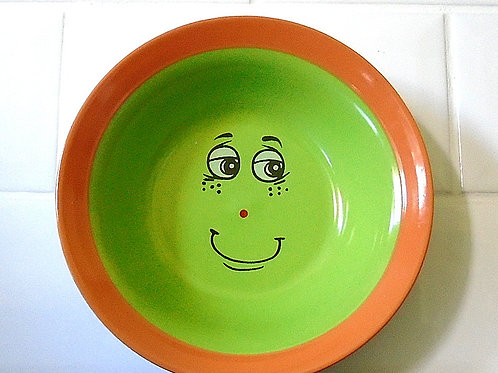Trade Winds Funny Faces Bowl Dish Orange / Green