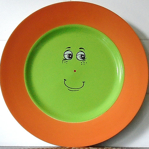Trade Winds Funny Faces Side / Salad Plate Orange / Green
