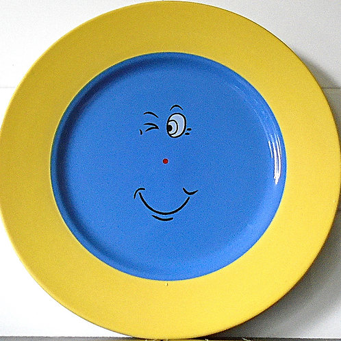 Trade Winds Funny Faces Side / Salad Plate Yellow / Blue