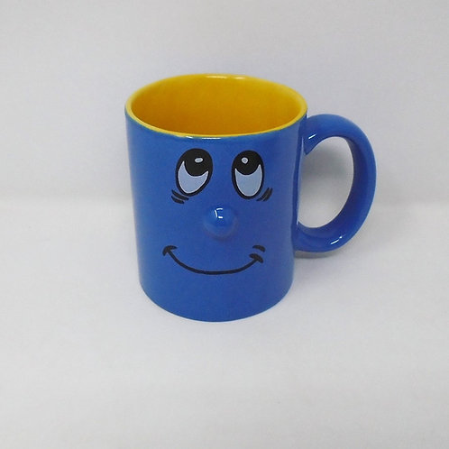 Trade Winds Funny Faces Mug Blue / Yellow