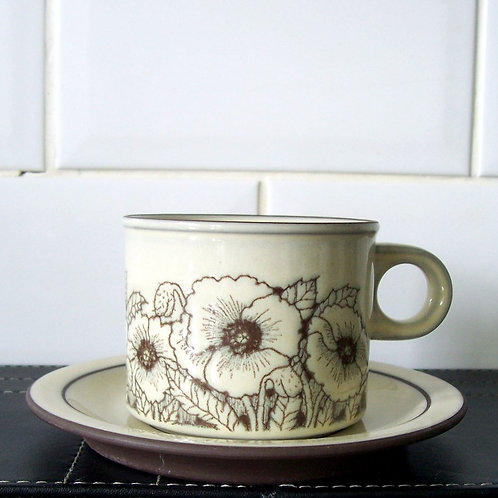 Hornsea Pottery Cornrose Cup & Saucer