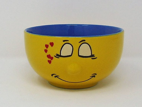 Trade Winds Funny Faces Yellow & Blue Deep Dish Cereal Bowl