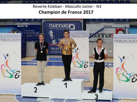 Esteban, Champion de France !