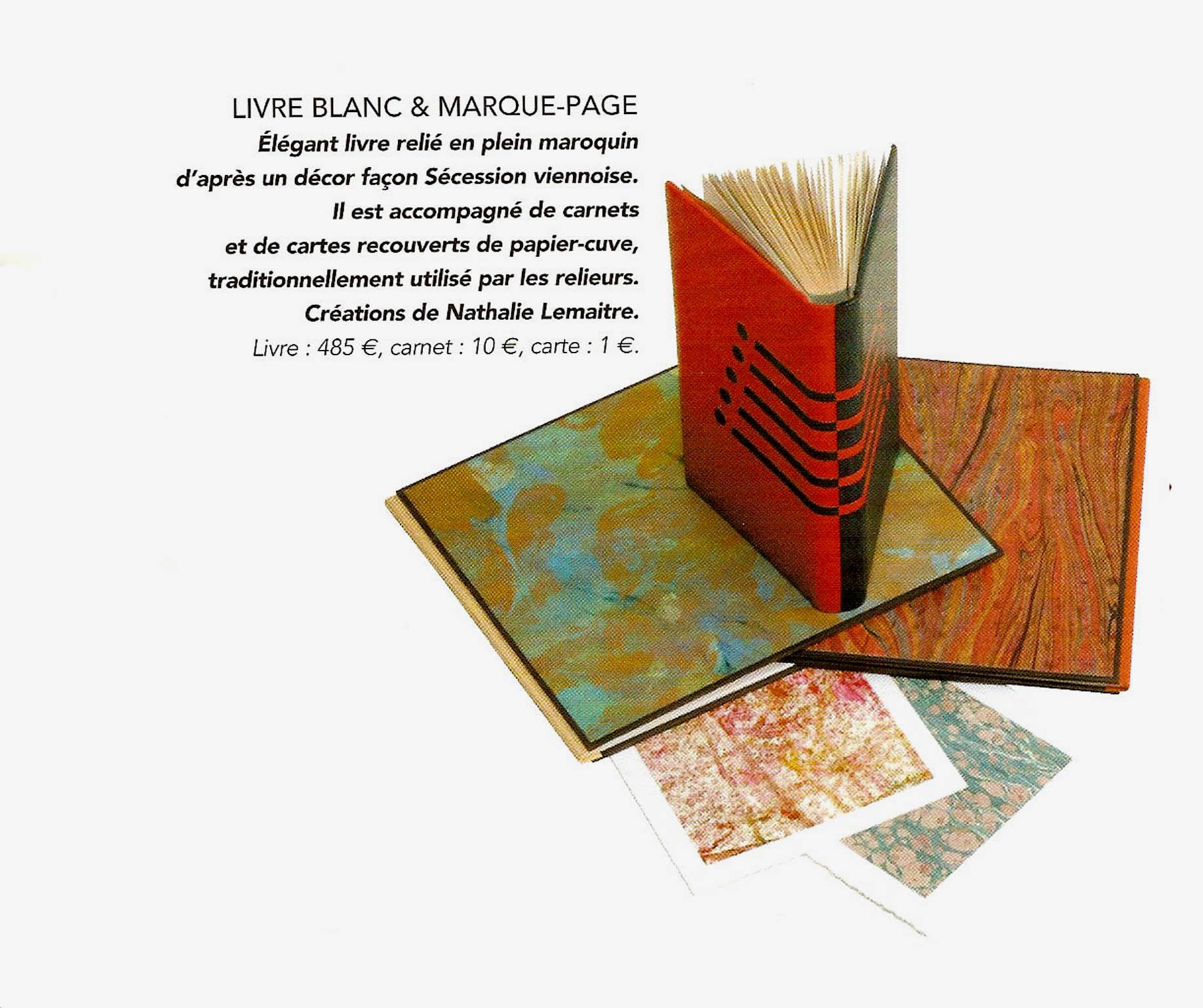 Livre blanc et Marque page