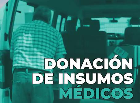 Donación de insumos médicos para combatir el COVID-19