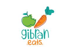 GIbran Eats Baby Food Logo Cute Organic