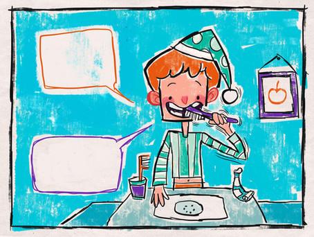 Kids book cildrens illustration cartoon book illustrator arabic english cute funny silly abz hakim