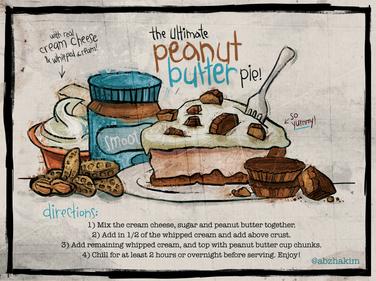food-menu-dessert-cake-oreo-peanut-butter-nuts-allergy-sketchy-drawing-cartoon-sketch
