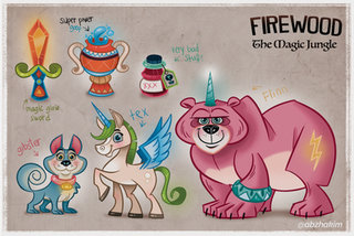 Game-Concept-Art--horse-magic-unicorn-ch
